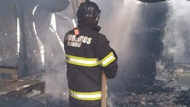 Photo of Vídeo: fábrica de estofados é tomada por fogo em Limoeiro de Anadia