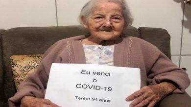 Photo of Com pressão alta, diabetes e câncer de pele, idosa de 94 anos vence Covid-19: 'Guerreira'