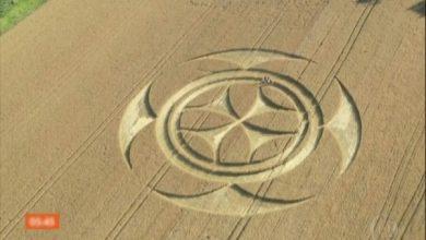 Photo of Símbolo misterioso gigante aparece em plantação na França