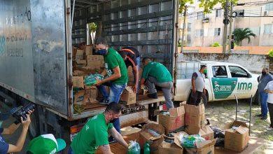 Photo of Ambulantes da orla de Maceió recebem 12 toneladas de alimentos na manhã desta quarta-feira