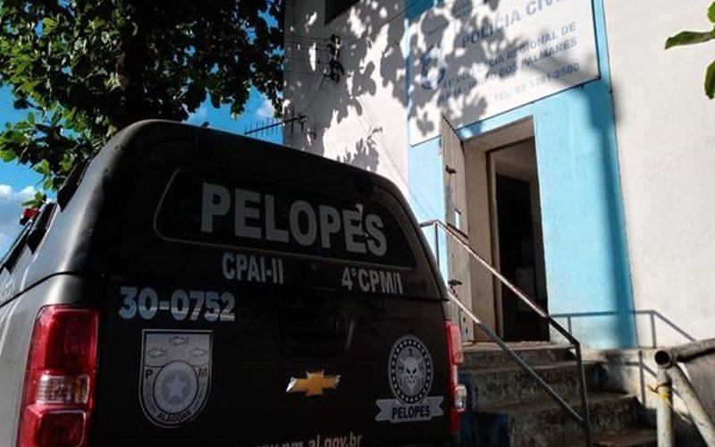 Guarnicao-do-Pelopes-em-frente-a-Delegacia-de-Uniao-dos-Palmares-—-©-Gustavo-Lopes-BR104