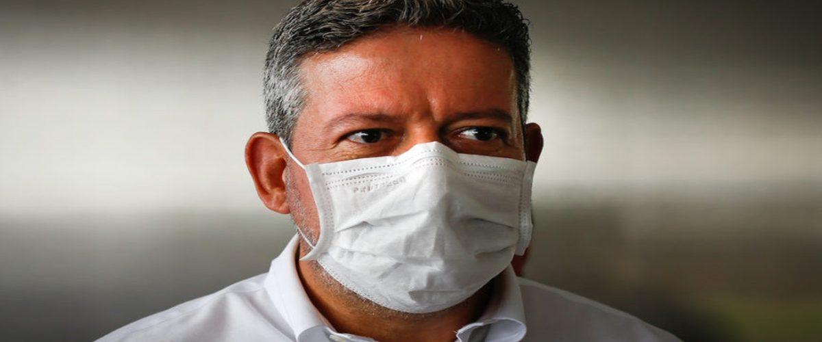 Dep. Arthur Lira, candidato a presidência da Câmara dos Deputados, saindo do encontro com a bancada do DF. Sérgio Lima/Poder360 26.01.2021